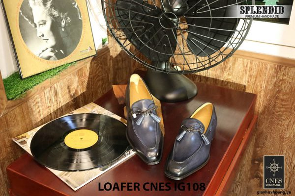 Giày lười nam da bò Loafer CNES IG108 Size 42 002