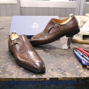 Giày da nam không dây Monkstrap Marengo M1914 007