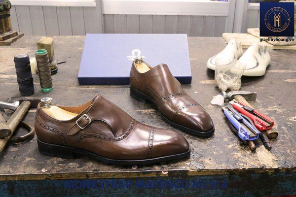 Giày da nam không dây Monkstrap Marengo M1914 006
