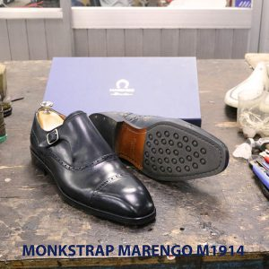 Giày da nam không dây Monkstrap Marengo M1914 005