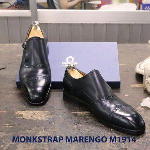 Giày da nam không dây Monkstrap Marengo M1914 004
