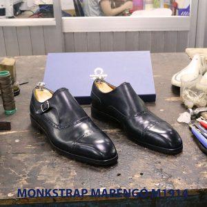 Giày da nam không dây Monkstrap Marengo M1914 003