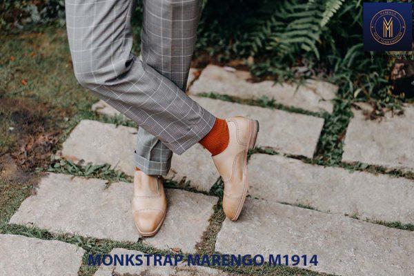 Giày da nam không dây Monkstrap Marengo M1914 002