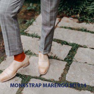 Giày da nam không dây Monkstrap Marengo M1914 001