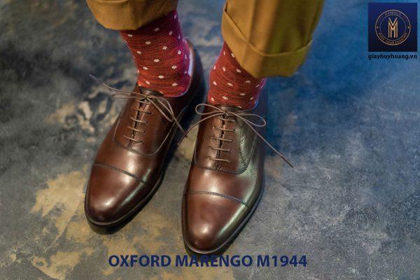 Giày da nam đế cao su Oxford Marengo M1944 002
