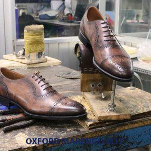 Giày tây nam da bò cột dây Oxford MArengo M37 005
