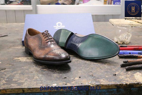 Giày tây nam da bò cột dây Oxford MArengo M37 004