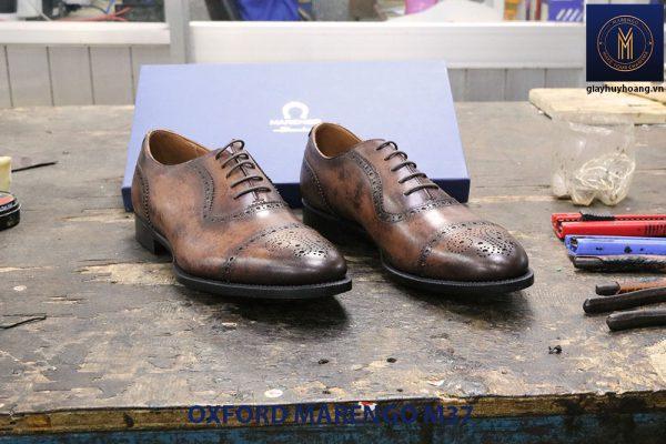 Giày tây nam da bò cột dây Oxford MArengo M37 003