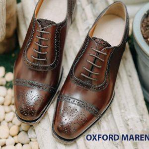 Giày tây nam da bò cột dây Oxford MArengo M37 001