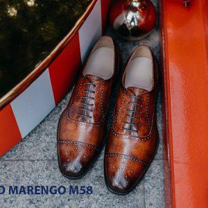 Giày tây da nam Oxford captoe Marengo M58 001