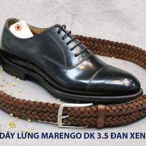 Dây nịt thắt lưng nam da đan xen Marengo 3-3.5cm 018