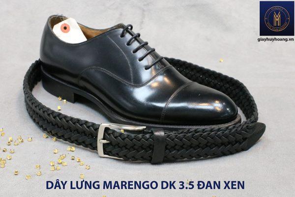 Dây nịt thắt lưng nam da đan xen Marengo 3-3.5cm 016