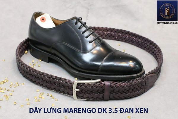 Dây nịt thắt lưng nam da đan xen Marengo 3-3.5cm 015