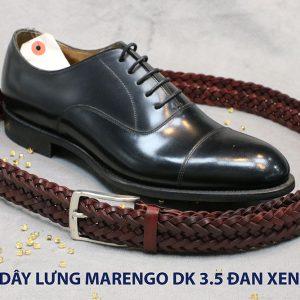 Dây nịt thắt lưng nam da đan xen Marengo 3-3.5cm 013
