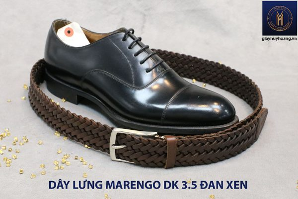 Dây nịt thắt lưng nam da đan xen Marengo 3-3.5cm 012