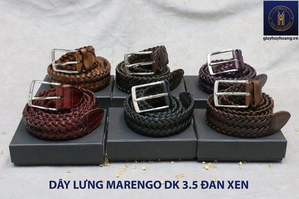 Dây nịt thắt lưng nam da đan xen Marengo 3-3.5cm 011