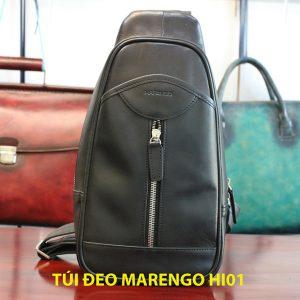 Túi bao tử đeo chéo nam da bò Marengo 004