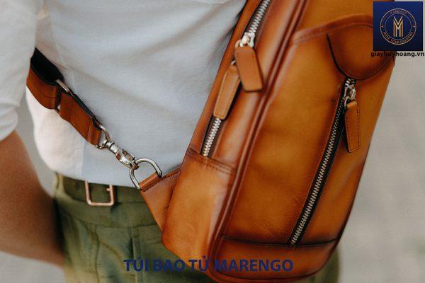 Túi bao tử đeo chéo nam da bò Marengo 003