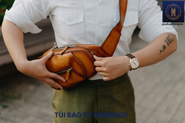 Túi bao tử đeo chéo nam da bò Marengo 002