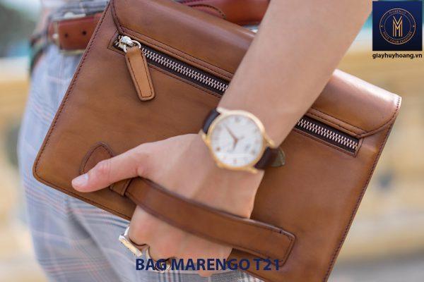 Túi cầm tay nam da bò CLUTCH Marengo T21 001