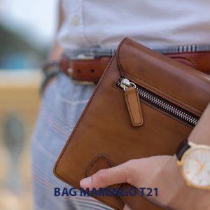 Túi cầm tay nam da bò CLUTCH Marengo T21 005