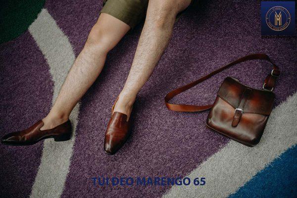 Túi đeo vai chéo nam da bò Marengo 65 005