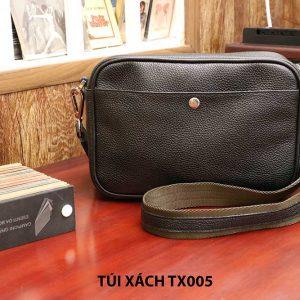 Túi đeo chéo da hột không nhăn nam CNES TX005 001