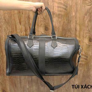 Túi xách đi du lịch da bò vân cá sấu nam CNES TX004 008