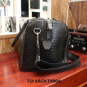 Túi xách đi du lịch da bò vân cá sấu nam CNES TX004 002
