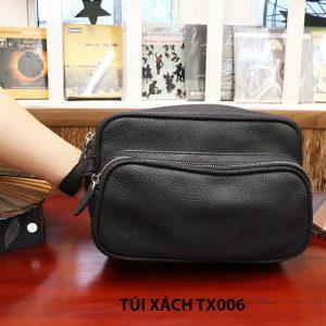 Túi cầm tay da hột không nhăn nam CNES TX006 003