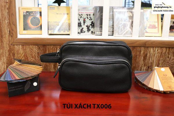 Túi cầm tay da hột không nhăn nam CNES TX006 001