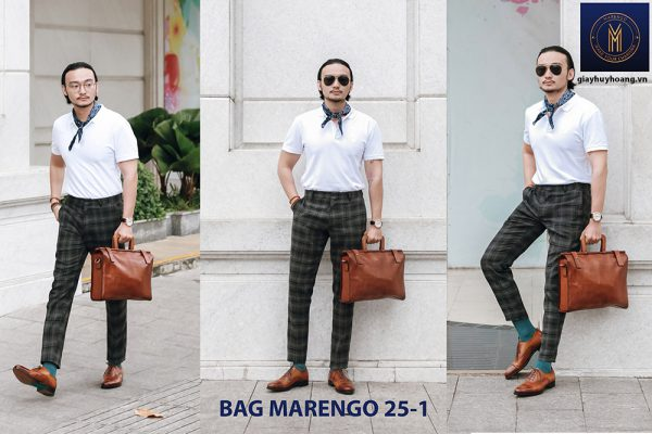 Túi xách - Cặp da bò nam thời trang Marengo 25-1 001