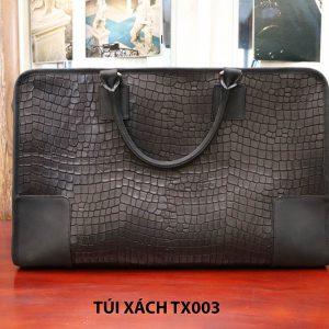 Túi xách du lịch da bò vân cá sấu nam CNES TX003 001