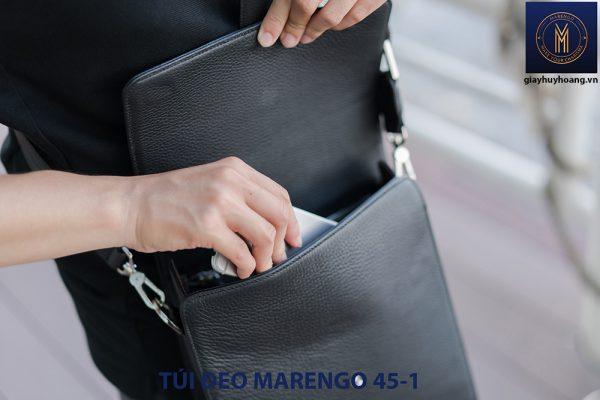 Túi đeo vai chéo da bò nam Marengo 45-1 005