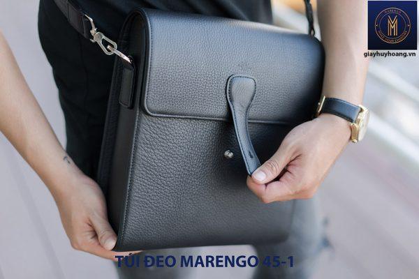 Túi đeo vai chéo da bò nam Marengo 45-1 001