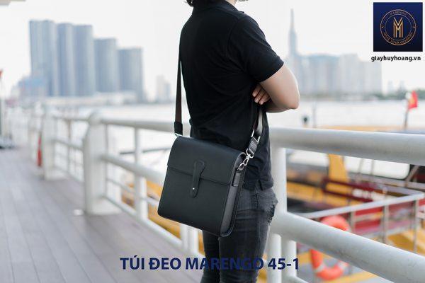 Túi đeo vai chéo da bò nam Marengo 45-1 002