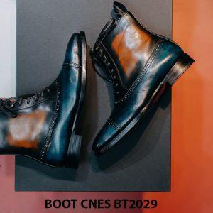 Giày da nam cổ cao Boot CNES BT2029 002