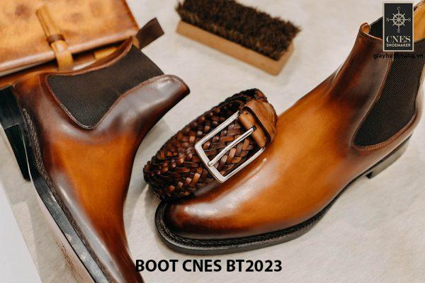 Giày da nam cổ cao Boot CNES BT2023 001