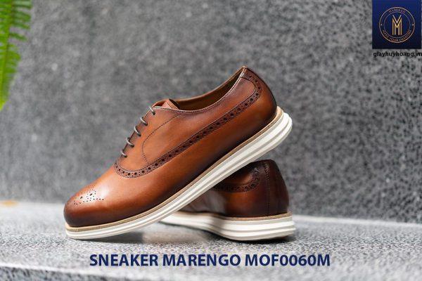 [Outlet Size 41] Giày da nam thể thao Sneaker Marengo MOF0060 001