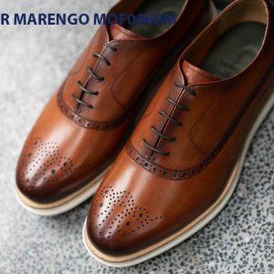 [Outlet Size 41] Giày da nam thể thao Sneaker Marengo MOF0060 0023