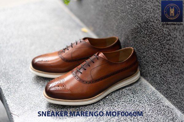 [Outlet Size 41] Giày da nam thể thao Sneaker Marengo MOF0060 002