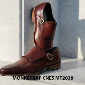 Giày da nam thời trang Monkstrap CNES MT2038 001