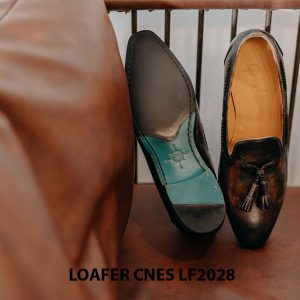 Giày lười nam da bò Loafer CNES LF2028 003