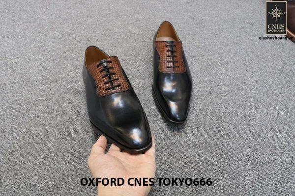 Giày da nam chính hãng Oxford CNES Tokyo666 006