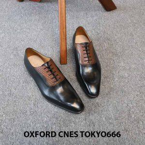Giày da nam chính hãng Oxford CNES Tokyo666 004