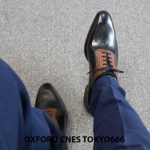 Giày da nam chính hãng Oxford CNES Tokyo666 002
