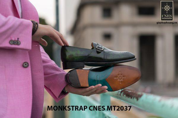 Giày da nam đẹp Monkstrap CNES MT2037 007
