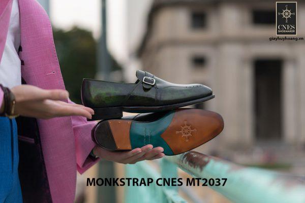 Giày da nam đẹp Monkstrap CNES MT2037 006