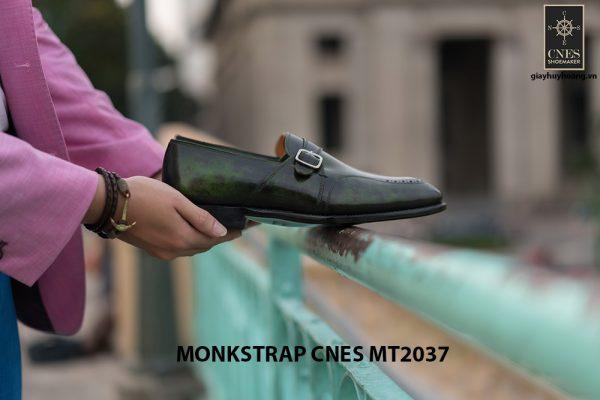 Giày da nam đẹp Monkstrap CNES MT2037 005