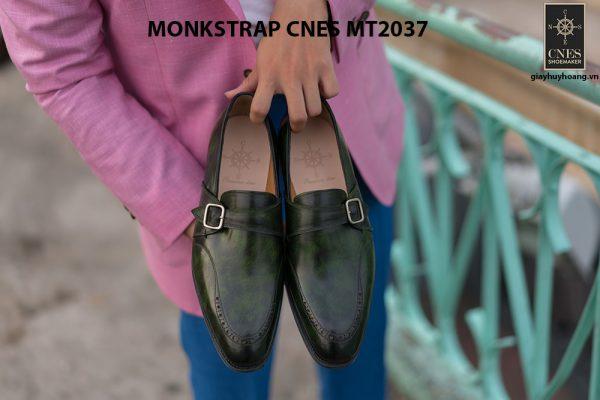 Giày da nam đẹp Monkstrap CNES MT2037 001